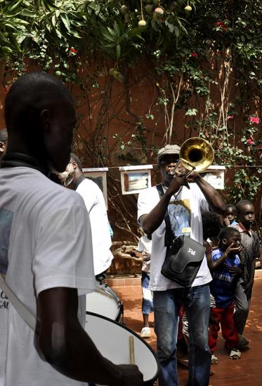 Le Brass Band Beninois en visite